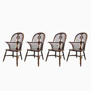 Chaises Windsor Mid-Century, Set de 4