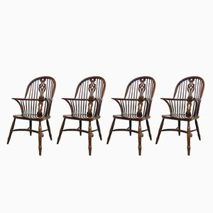 Mid-Century Windsor Chairs, Set of 4