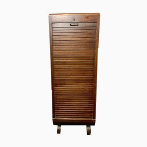 Vintage Tambour Filing Cabinet, 1950s