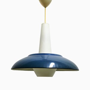 Lampe à Suspension Vintage Bleue de Philips, 1960s