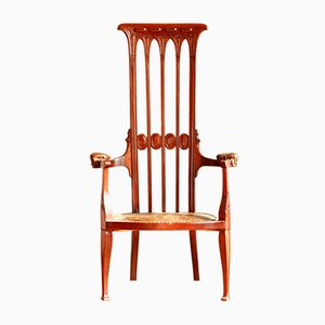 English Art Nouveau Armchair from J.S.Henry, 1895