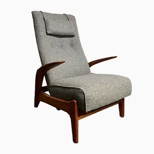 Mid-Century Rock 'n' Rest Armchair in Teak and Wool from Gimson & Slater, 1960s