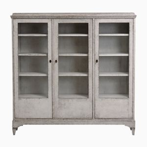 Antique Swedish 3-Door Bookcase