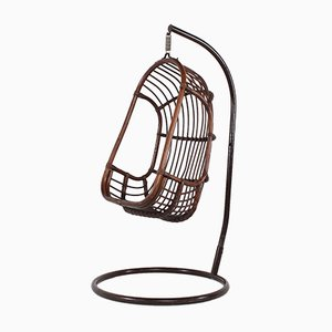 Egg Chair aus Bambus & Rattan, 1970er