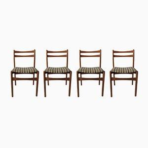 Mid-Century Esszimmerstühle, 1970er, 4er Set