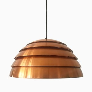 Copper Beehive Pendant Lamp by Hans-Agne Jakobsson, 1960s