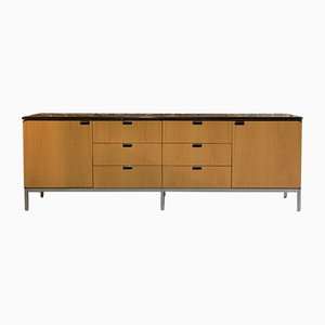 Oak & Marble Sideboard by Florence Knoll, 1970s