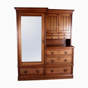 Victorian Walnut Wardrobe from W. Walker & Sons, 1880s