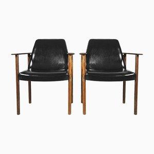 Mid-Century Stühle von Sven Ivar Dysthe für Dokka Møbler, 1960er, 2er Set