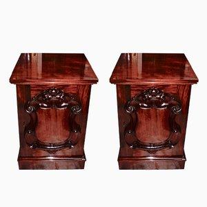 Victorian Mahogany Cabinets, 1870s, Set of 2