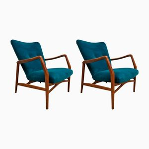 Danish Vintage Armchairs, Set of 2