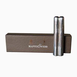 Étui à Cigares Vintage en Argent Massif de Mappin & Webb, 1998