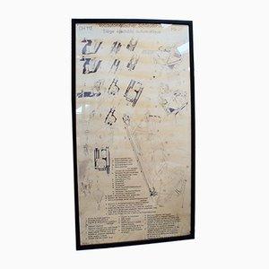 Large Vintage Martin Baker Ejector Seat Training Poster