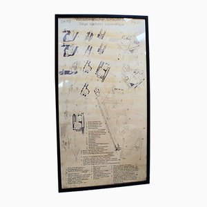 Poster vintage raffigurante il sedile eiettabile Martin Baker
