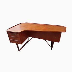 Mid-Century Boomerang Schreibtisch von Peter Løvig Nielsen für Hedensted Mobelfabrik, 1960er