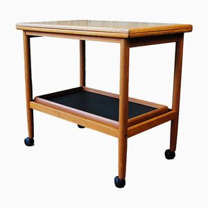 Vintage Danish Teak Trolley & Side Table