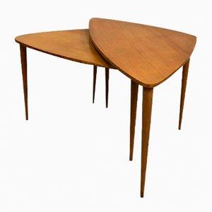 Tables Gigognes Vintage avec Trépied, Danemark, Set de 2