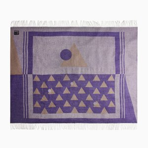 Coperta viola in lana di alpaca delle Ande di Nebula Order