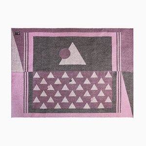 Rosane Decke aus Baby-Alpakawolle aus den Anden von Nebula Order
