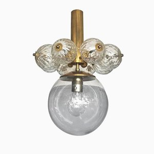 Chandelier with Brass Fixture, 1970s