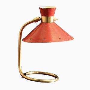 Lámpara de mesa francesa Mid-Century, años 50
