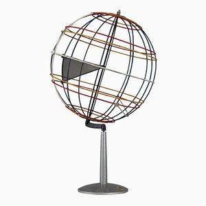 Deutscher Mid-Century Globus aus Draht, 1950er