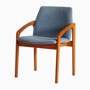 Vintage Armlehnstuhl aus Teak von Kai Kristiansen für Korup Stolefabrik, 1960er