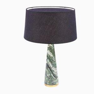 Konische schwedische Lampe aus grünem Marmor von Rose Uniacke