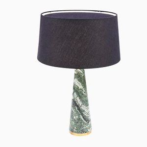 Swedish Green Marble Cone Lamp by Rose Uniacke