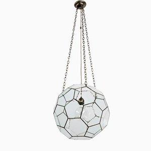 Lámpara colgante grande con piezas de vidrio ensambladas de Rose Uniacke