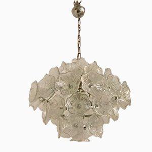Floraler Mid-Century Kronleuchter aus Muranoglas von Venini für VeArt