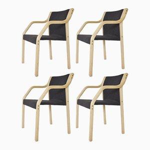 Vintage Model 4550 Dining Chairs by Gražina Tulevičienė for Šiaulių Ventos Baldų Fabrikas, Set of 4