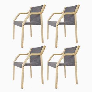 Vintage 4550 Model Dining Chairs by Gražina Tulevičienė for Šiaulių Ventos Baldų Fabrikas, Set of 4