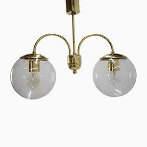 Lámpara colgante de latón de Kamenický Šenov, años 70