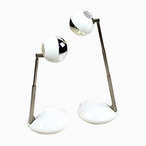 Lampade da tavolo sferiche vintage di Eichhoff, anni '70, set di 2