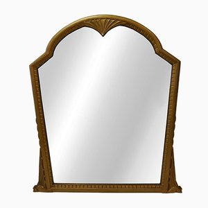 Vintage Mahogany Bat Mantel Mirror in Gold