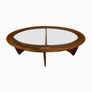 Tavolino da caffè vintage in vetro di Victor Wilkins per G-Plan