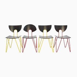 Chaises d'Appoint Vintage par Walter Leeman pour Kusch+Co, Set de 4