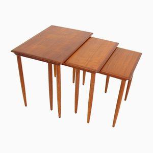 Tavolini ad incastro vintage, Danimarca, anni '70, set di 3