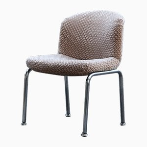 Poltrona Waffle vintage in velluto di Mobilier International, anni '70