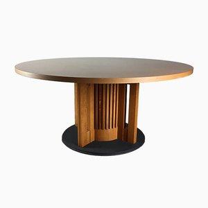 Tavolino da caffè in ghisa e legno di Giorgetti, Italia, anni '80