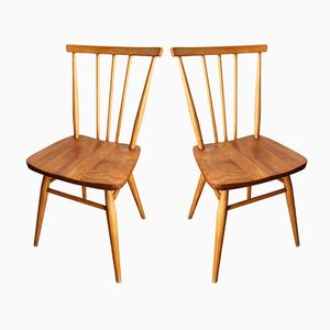 Ercol Dining Chairs by Lucian Ercolani for Ercol, 1950s, Set of 2