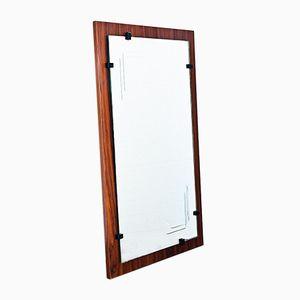 Specchio smussato con cornice in legno verniciato, Spagna, anni '70