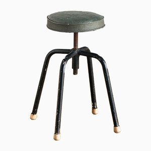 Vintage Industrial Spanish Adjustable Stool, 1950s