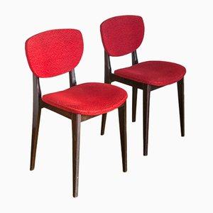 Französische Vintage Holzstühle, 1970er, 2er Set