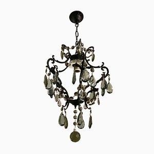 Lámpara de araña italiana vintage de cristal