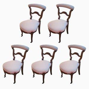 Antike Esszimmerstühle, 5er Set