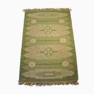 Schwedischer Rollakan Teppich aus Wolle & Wildleder, 1950er