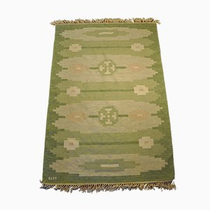 Swedish Wool & Suede Rollakan Rug, 1950s