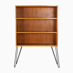 Ash Bookshelf with Hairpin Legs, 1950s